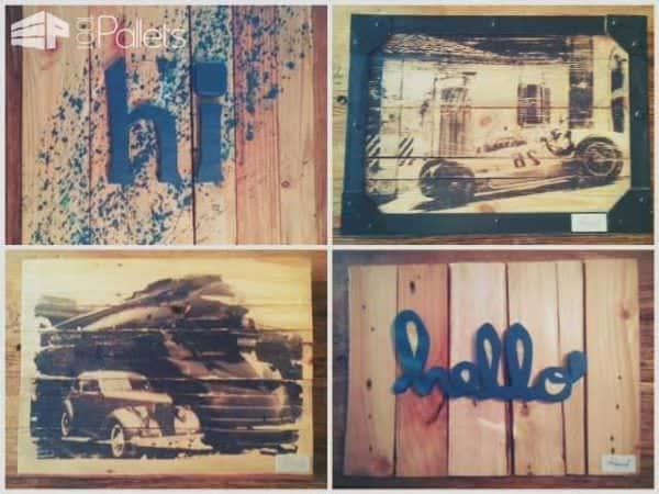 New Pallet as Wall Picture Pallet Wall Decor & Pallet Painting