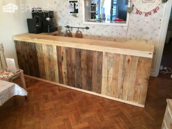 Pallet Counter/Bar Pallet Bars