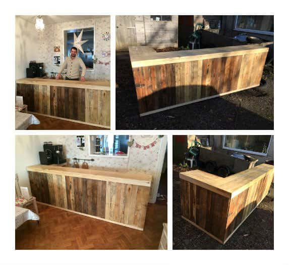 Pallet Counter/Bar • 1001 Pallets