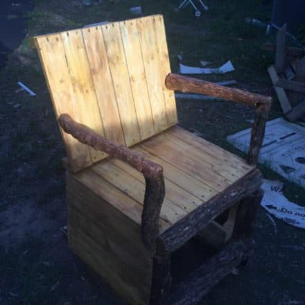 My Version of a Pallet Rocking Chair
