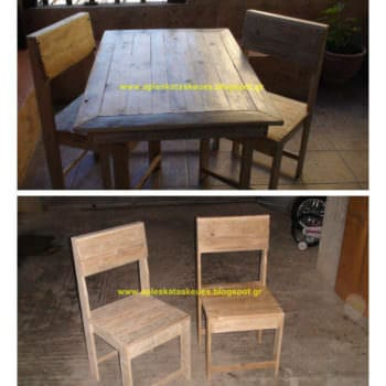 Pallet Table & Chair