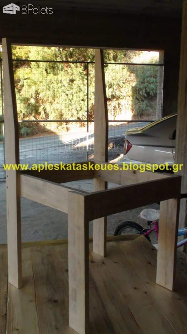 Pallet Table & Chair Pallet Benches, Pallet Chairs & Stools Pallet Desks & Pallet Tables