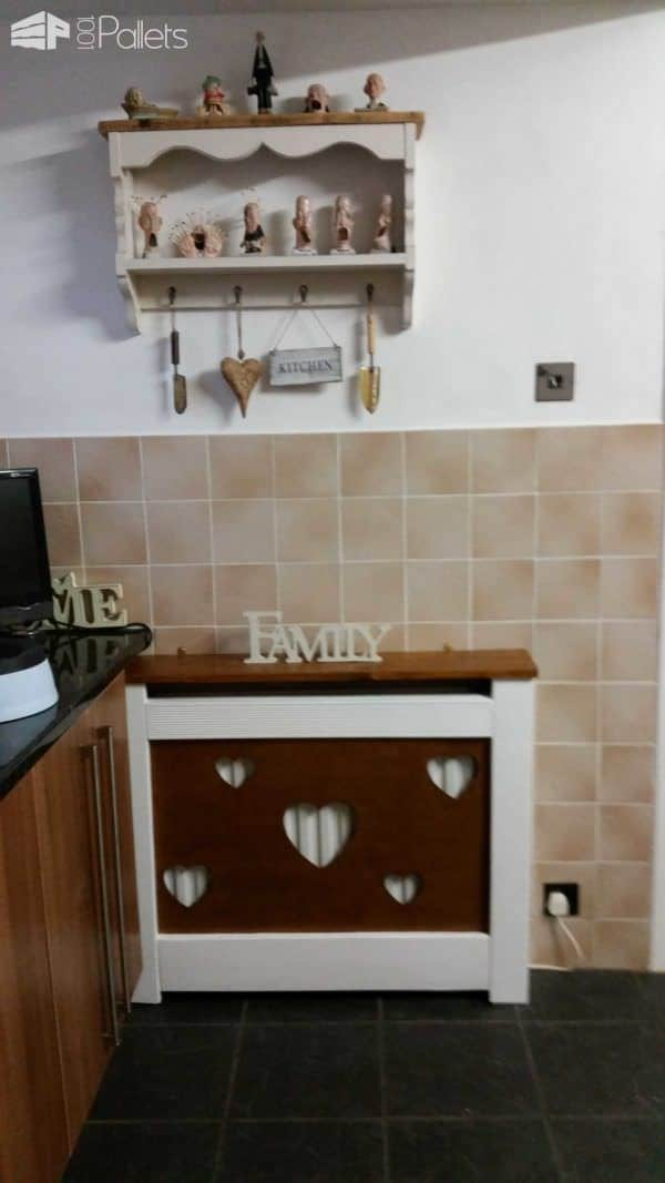 Radiator Cover in the Kitchen Made from Recycled Pallet Wood Pallet Home Accessories