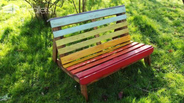 Rainbow colors garden set 1001 pallets - Lounger for the garden crossword ...