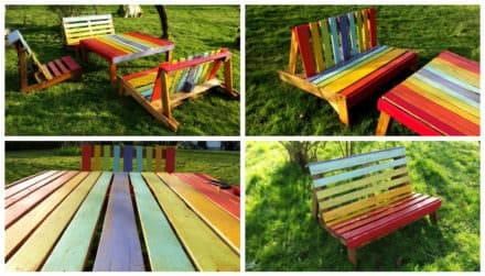 Rainbow Colors Garden Set