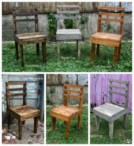 Rustic Wooden Pallet Chairs