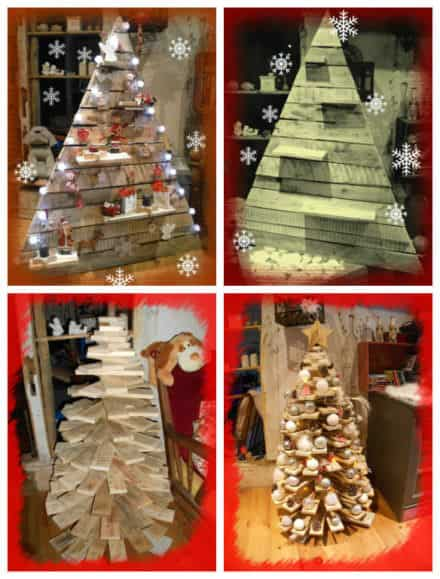 Pallet home decor page 22 of 34 diy wood pallet - Sapin de noel en palette ...