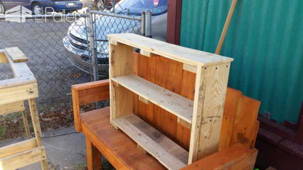 Smaller Pallet Shoe Rack Pallet Shelves & Pallet Coat Hangers