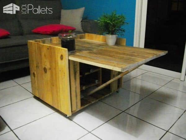 table basse modulable en palette modular coffee table. Black Bedroom Furniture Sets. Home Design Ideas