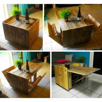Le collectif nomade fabrication et montage d 39 un bar for Table basse palette roulette