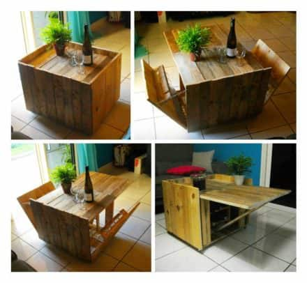 Table Basse Modulable En Palette / Modular Coffee Table