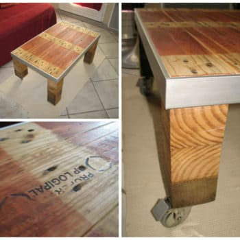 Table Basse Style Industriel / Industrial Style Coffee Table