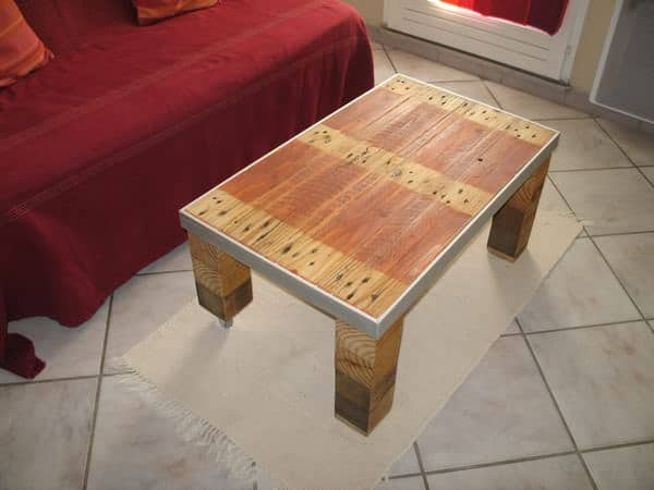 Table Basse Style Industriel / Industrial Style Coffee Table Pallet Coffee  Tables - Table Basse Style Industriel / Industrial Style Coffee Table