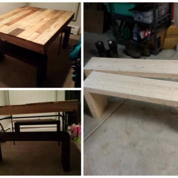 Table & Benches From Discarded Pallet Boards