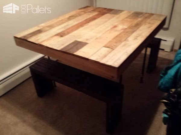 Table & Benches From Discarded Pallet Boards Pallet Benches, Pallet Chairs & Stools Pallet Desks & Pallet Tables