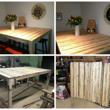 "Table Haute ""mange Debout"" / Kitchen High Pallet Table"