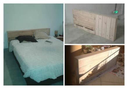 Pallet beds headboards diy pallet projects 1001 pallets - Tete de lit bois palette ...