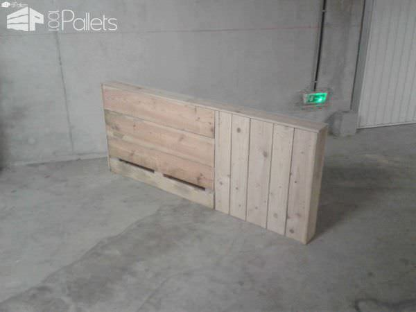 t te de lit en bois de palette pallet bed headboard pallet ideas 1001 pallets. Black Bedroom Furniture Sets. Home Design Ideas
