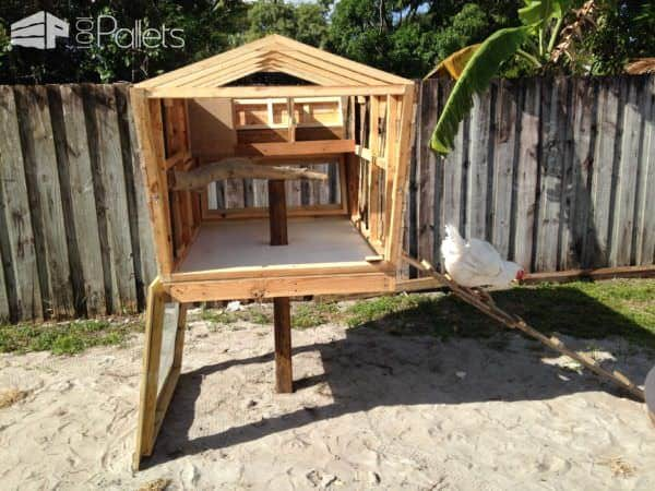 Pallet Version of the Chicken Coop Called the Coopsicle Animal Pallet Houses & Pallet Supplies