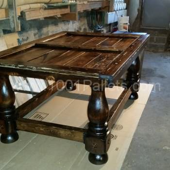Reclaimed wood and pallet wood coffee table