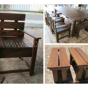 Garden Table, chairs and benches from reclaimed pallet wood