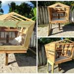 This is my Pallet version of the Chicken coop called the Coopsicle…