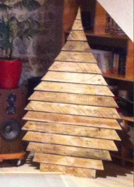 Sapinlette / Christmas Pallet Tree Pallet Home Accessories