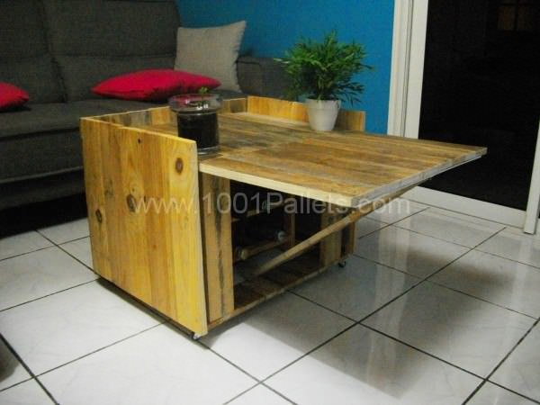Table basse modulable en palette modular coffee table - Idee table basse palette ...