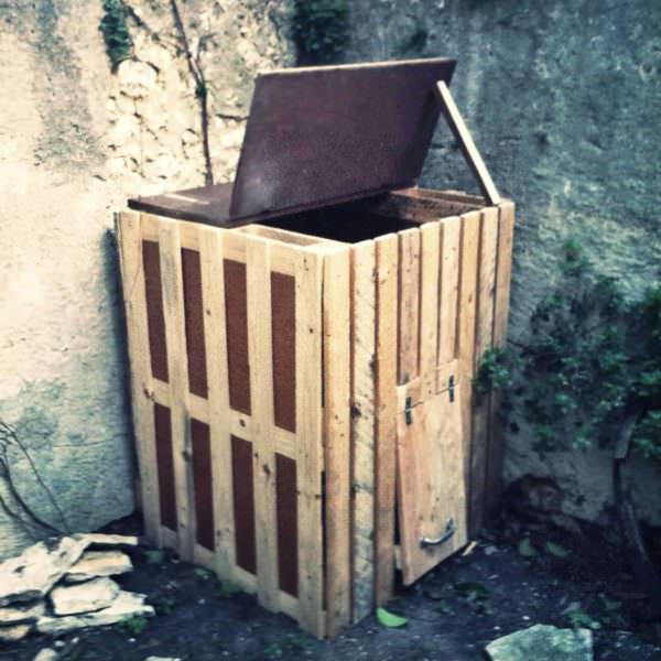 4 Recycled Pallets Composter Pallet Planters & Compost Bins