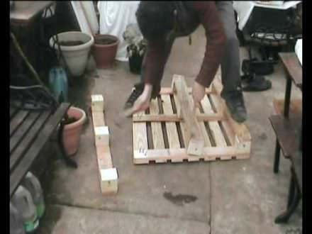 Easily Dismantle Wooden Pallets Using Hammer & Plank