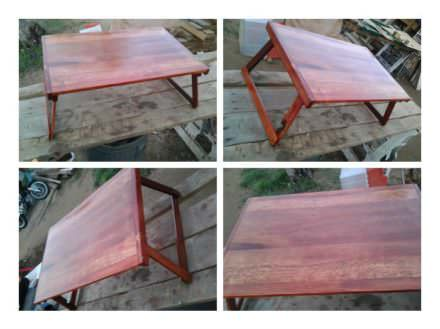 Folding Lap Table from Upcycled Pallet