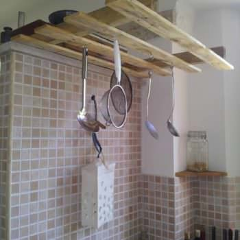 Hanging Pallet Kitchen Tools