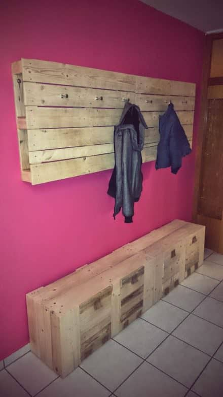 My New Pallet Wardrobe & Coat Rack