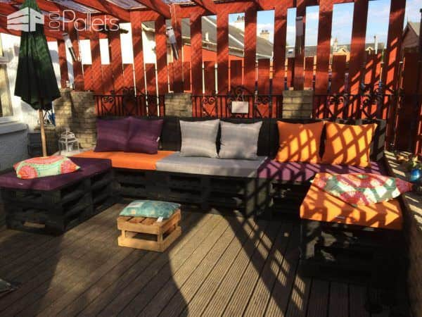 My Spot: Terrace Lounge Made from Repurposed Pallets Lounges & Garden SetsPallet Terraces & Pallet Patios
