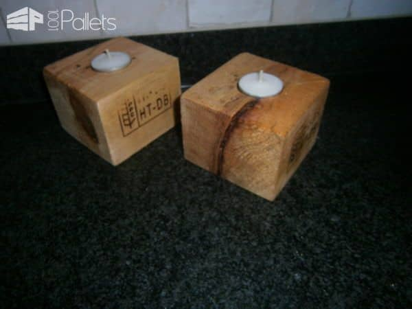 Pallet Candle Holder Pallet Candle Holders Pallet Lamps & Lights
