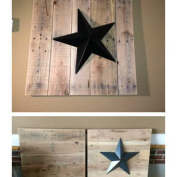 Pallet Wall Star