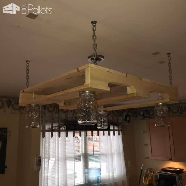 Pallet Wood Kitchen Light Pallets - Wood kitchen light fixtures