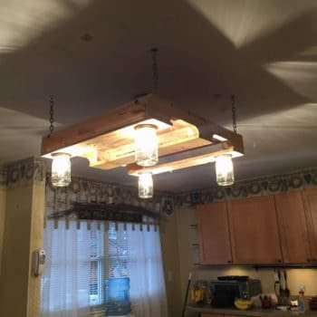 Pallet Wood Kitchen Light