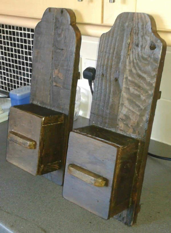 Primitive: Sconces for Candles Pallet Candle Holders