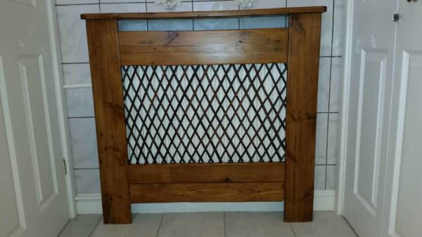 Radiator Cover in the Bathroom Made from Recycled Pallet Wood Pallet Home Accessories