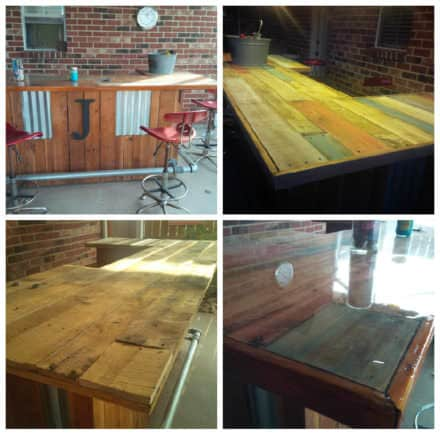 Reclaimed Pallet Wood Bar