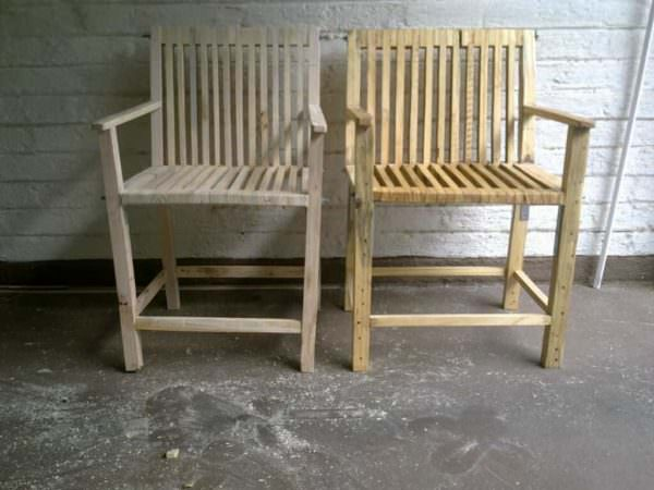 Repurposed Pallet Chair Pallet Benches, Pallet Chairs & Stools