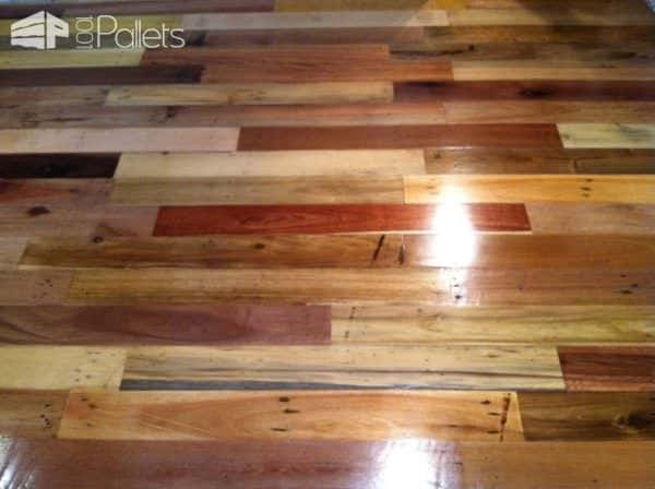 Repurposed Pallet Wood Floor Pallet Flooring