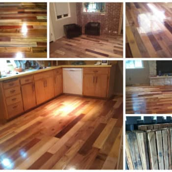 Repurposed Pallet Wood Floor
