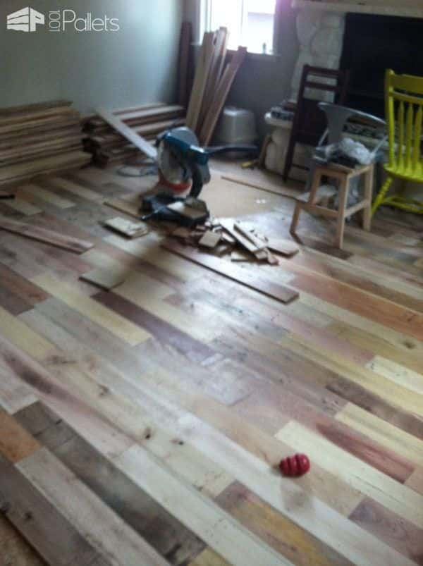 Repurposed Pallet Wood Floor Pallet Floors U0026 Decks