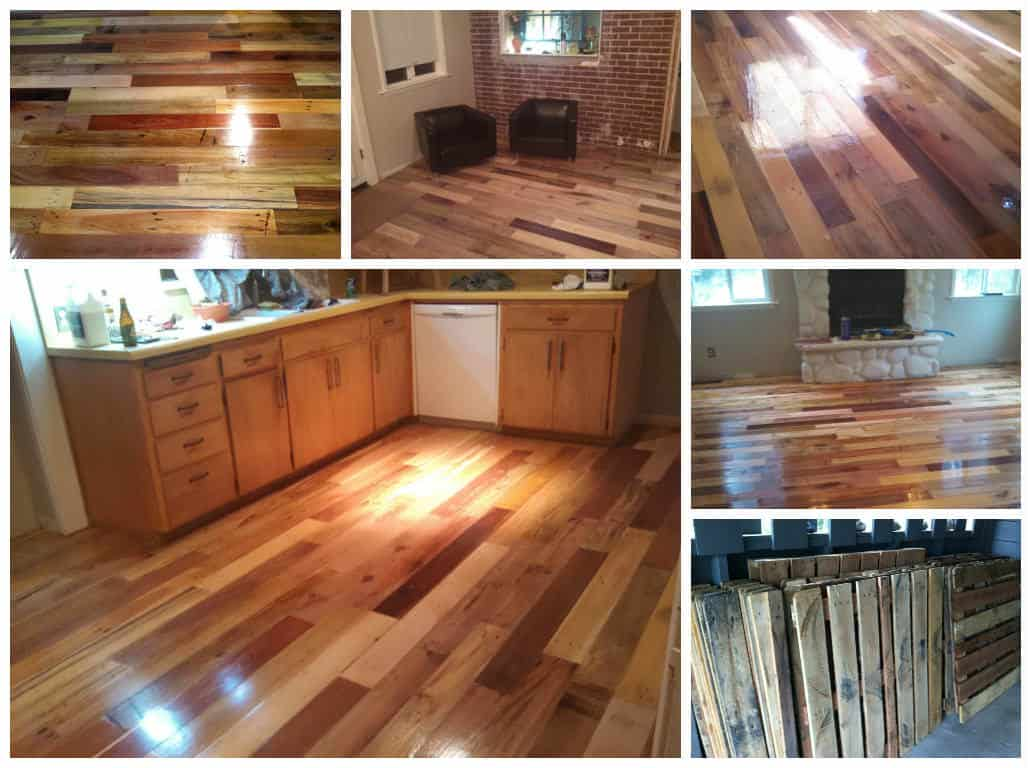 Repurposed Pallet Wood Floor • 1001 Pallets
