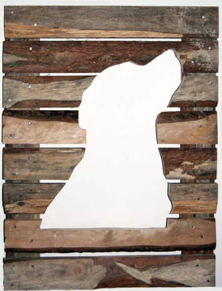 Rough Pallet Boards  Labrador Retriever Portrait