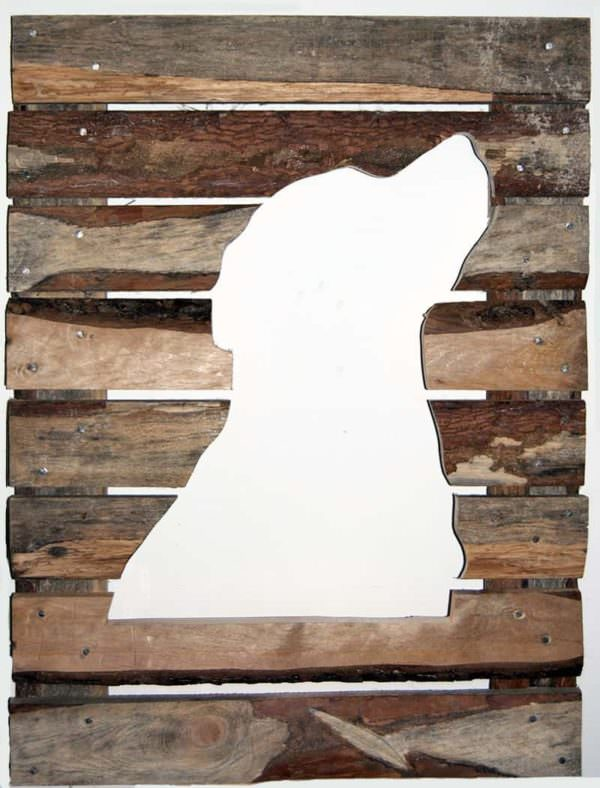 Rough Pallet Boards  Labrador Retriever Portrait Pallet Wall Decor & Pallet Painting