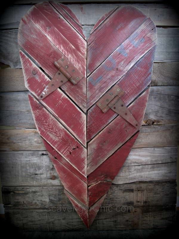 Rustic Valentines Day Heart Pallet Wall Decor & Pallet Painting