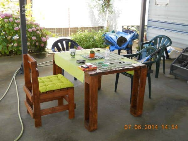 Sofa, Table, Coffee Table & Chairs: 100% Recycled Pallets Pallet Furniture
